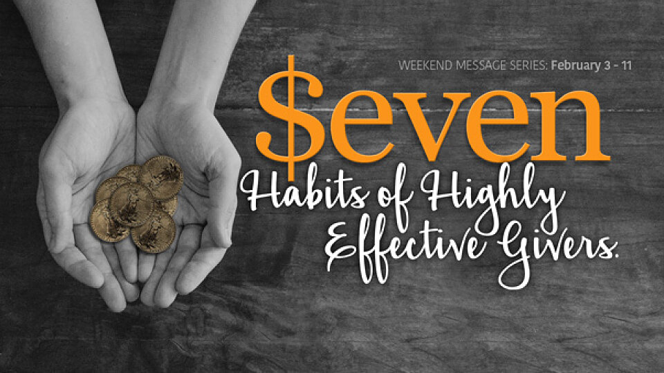 Seven Habits of Highly Effective Givers